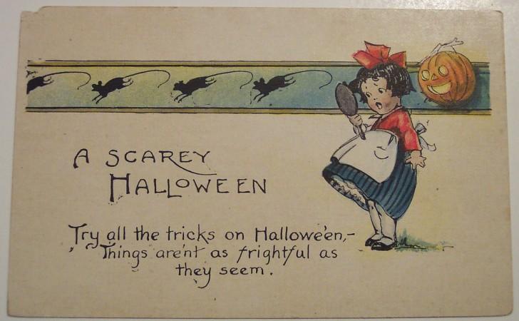 Postal Halloween retro 120