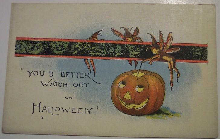Postal Halloween retro 121
