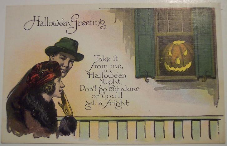 Postal Halloween retro 122