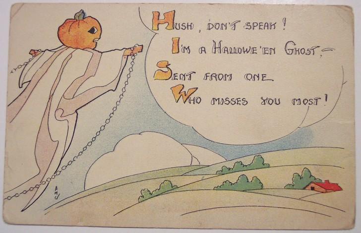 Postal Halloween retro 126