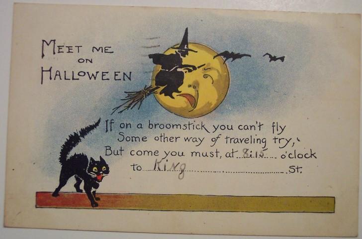 Postal Halloween retro 127