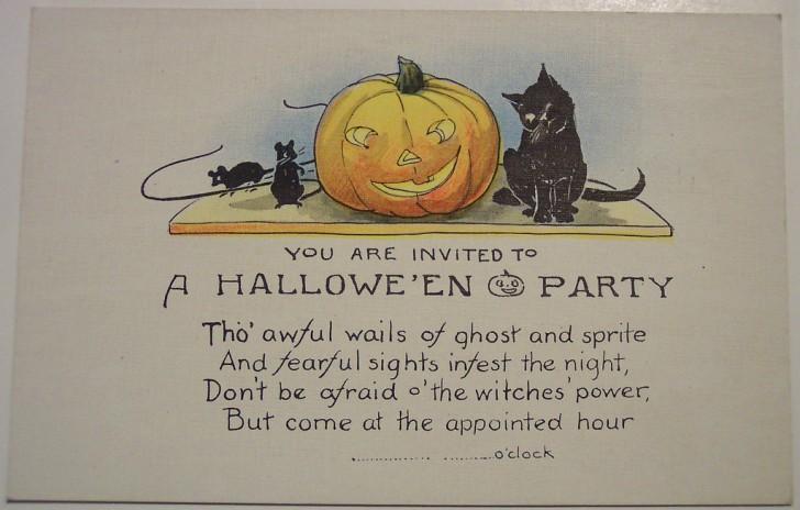 Postal Halloween retro 128