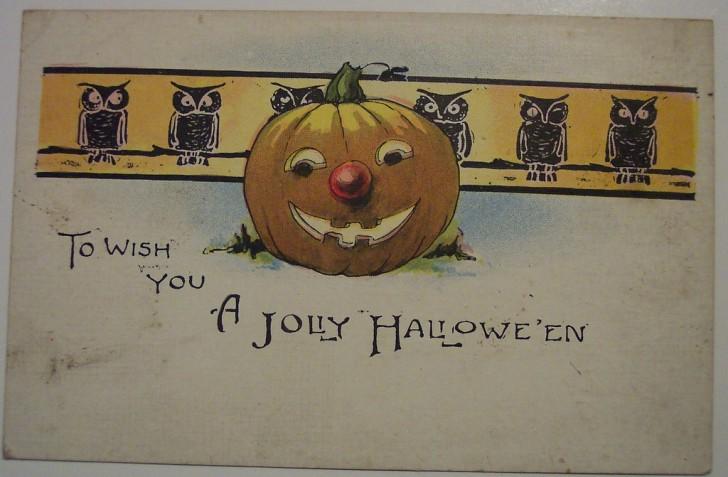 Postal Halloween retro 129