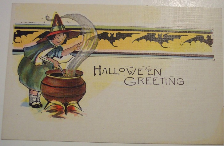 Postal Halloween retro 130