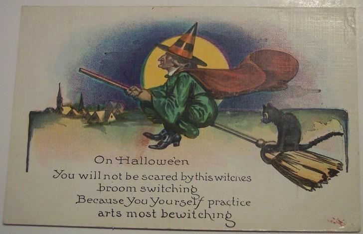 Postal Halloween retro 131