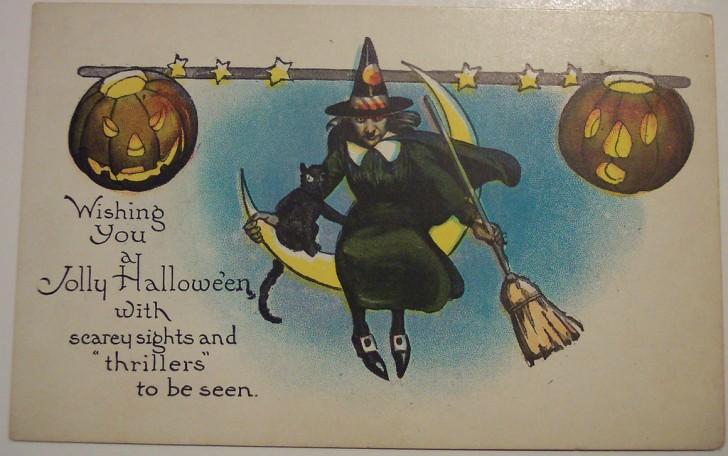 Postal Halloween retro 132