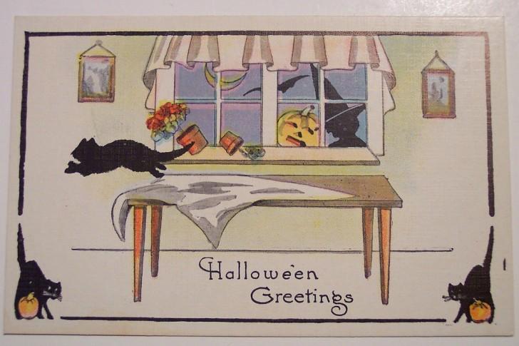 Postal Halloween retro 133