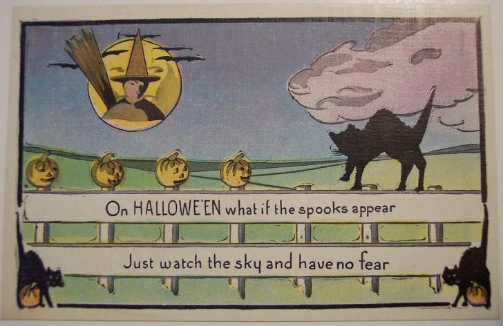 Postal Halloween retro 134
