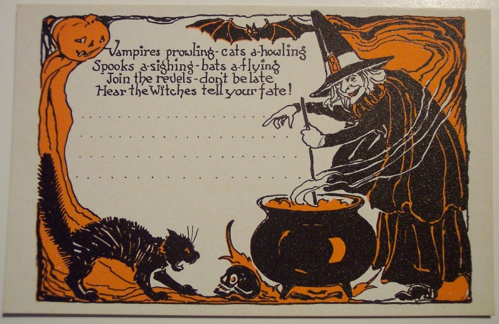 Postal Halloween retro 135