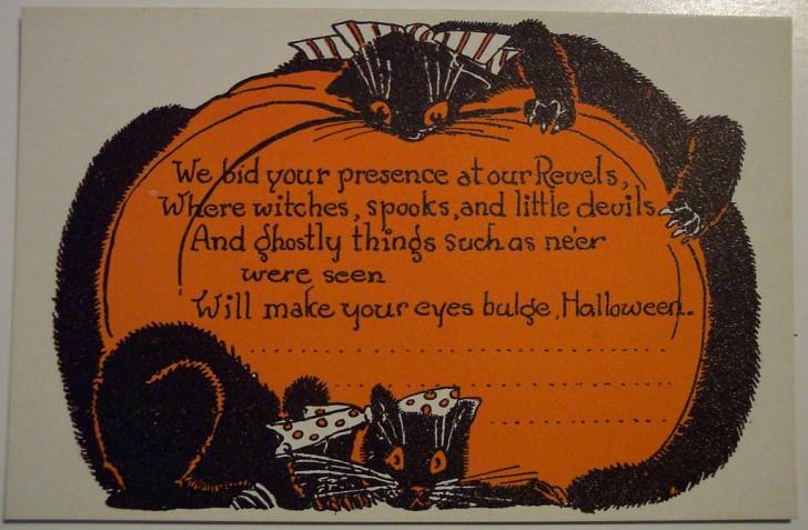 Postal Halloween retro 136