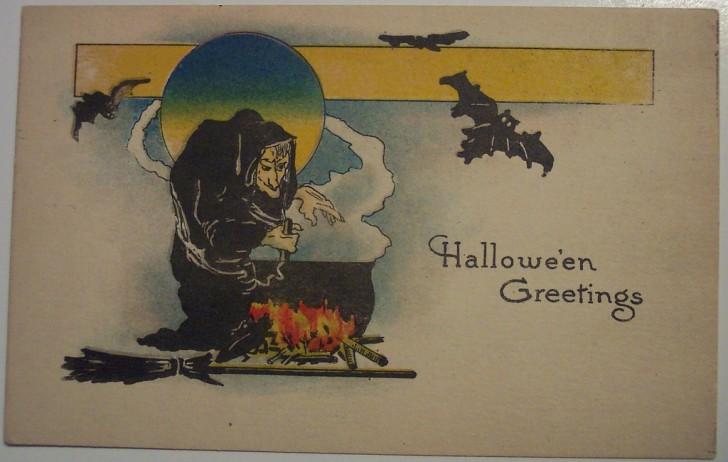 Postal Halloween retro 137