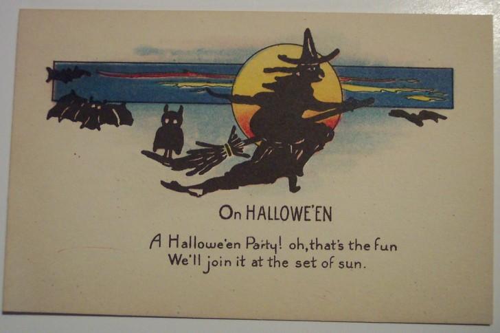 Postal Halloween retro 138