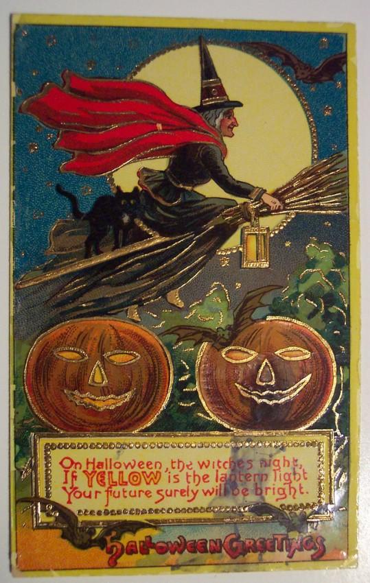 Postal Halloween retro 139