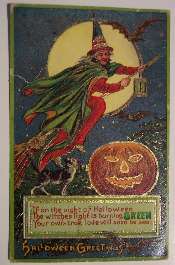 Postal Halloween retro 140