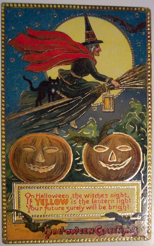 Postal Halloween retro 141