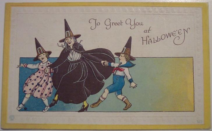 Postal Halloween retro 143