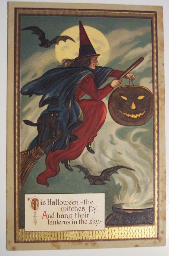 Postal Halloween retro 144
