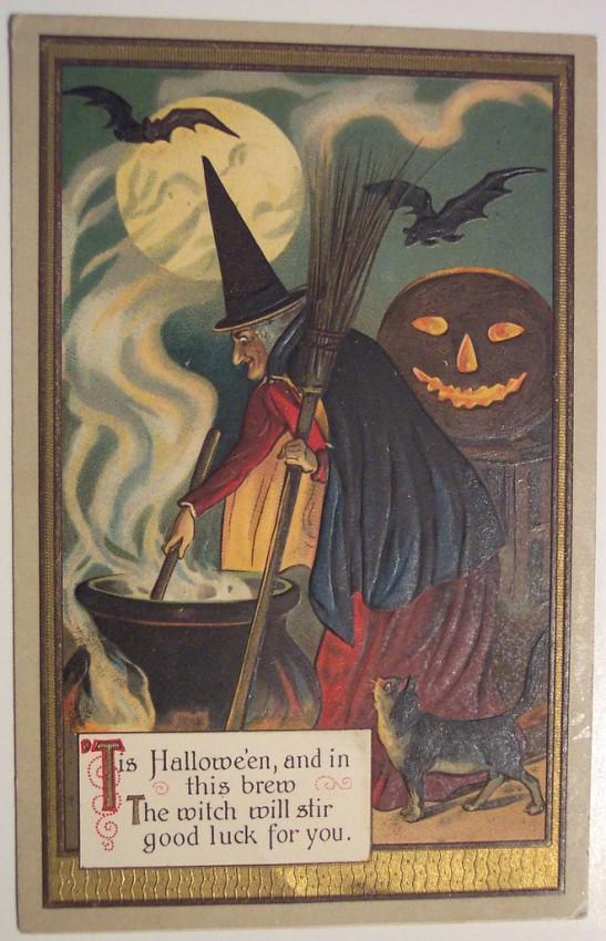 Postal Halloween retro 145