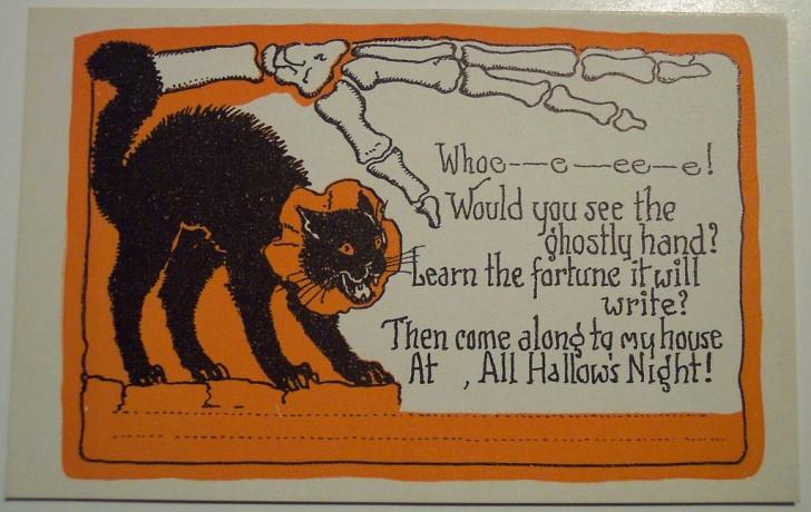 Postal Halloween retro 146