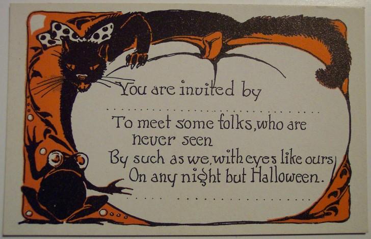 Postal Halloween retro 147