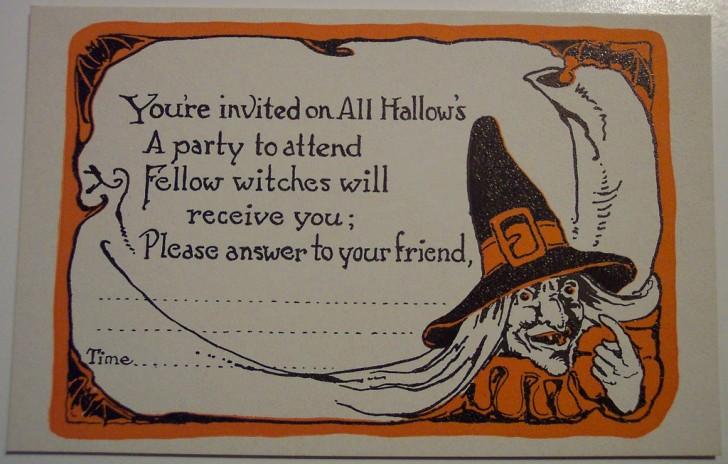 Postal Halloween retro 148