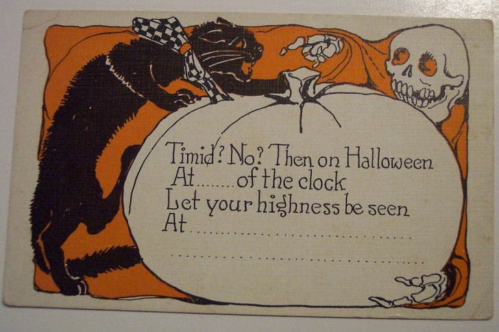 Postal Halloween retro 149