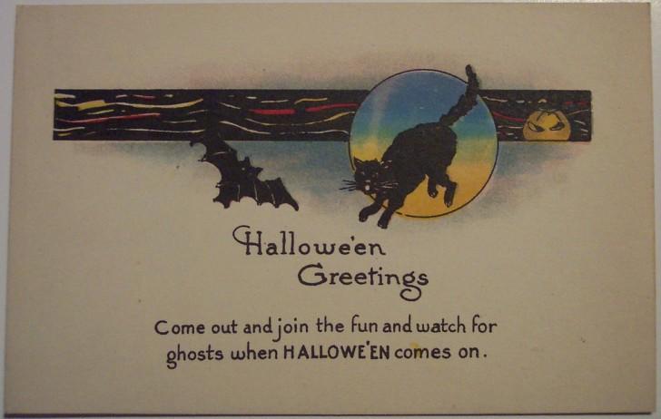 Postal Halloween retro 150
