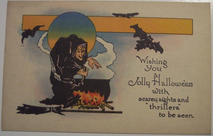 Postal Halloween retro 151