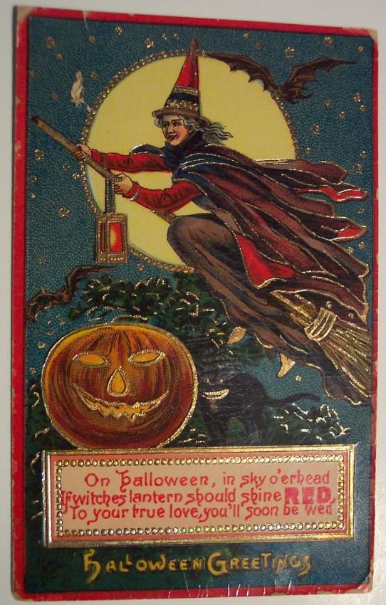 Postal Halloween retro 152