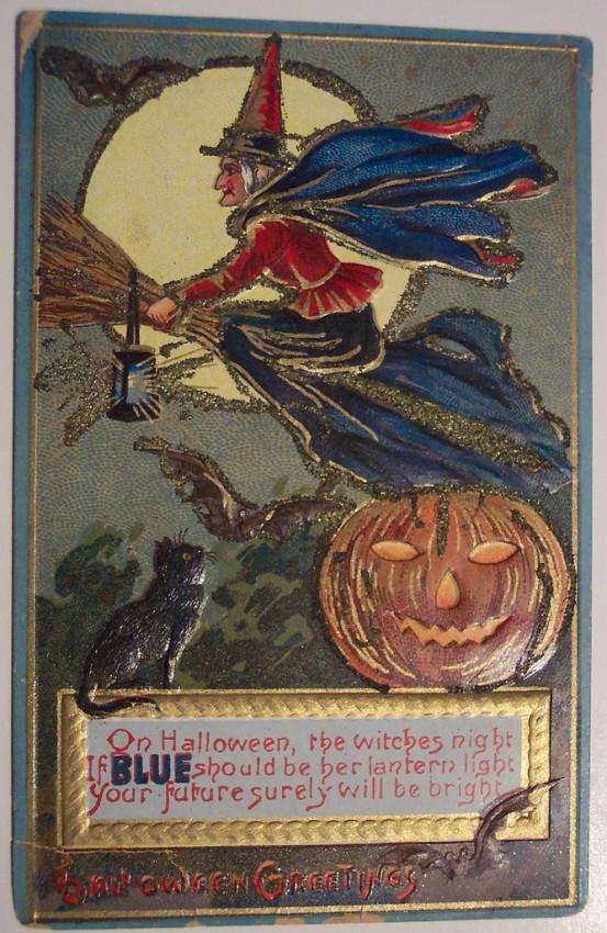 Postal Halloween retro 153