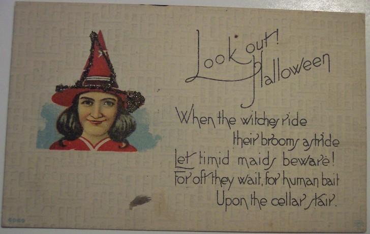 Postal Halloween retro 154