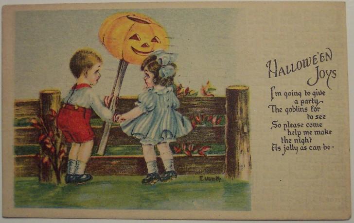 Postal Halloween retro 155