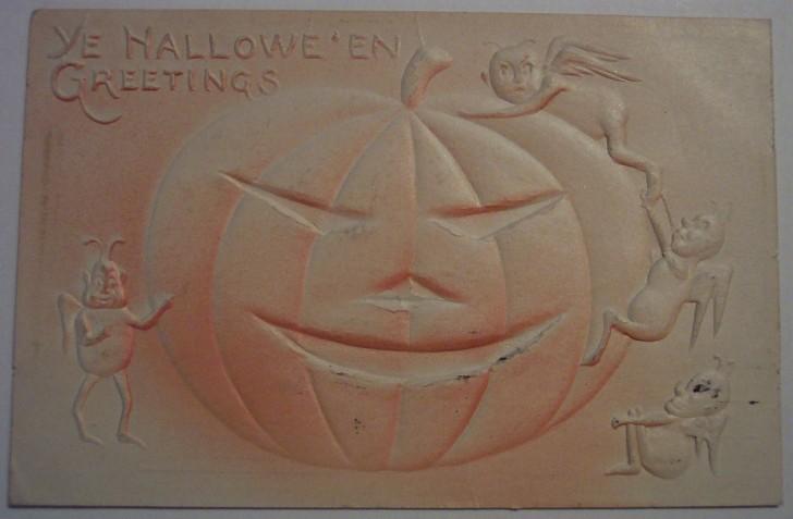 Postal Halloween retro 157