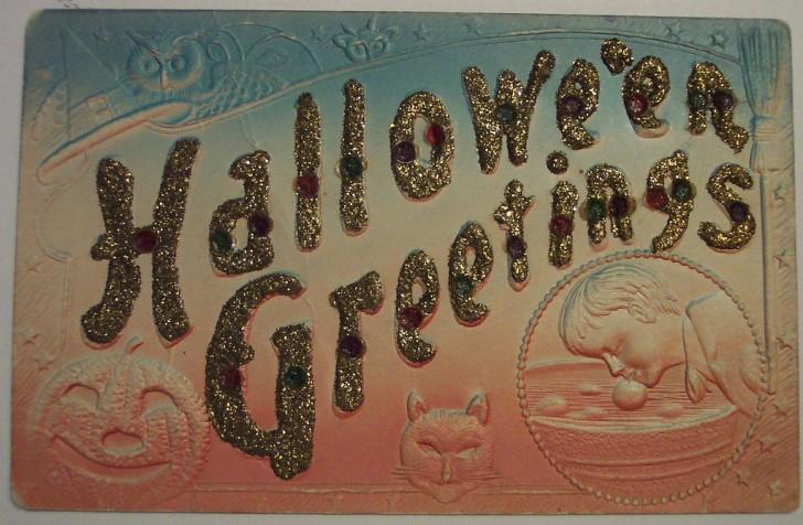 Postal Halloween retro 158