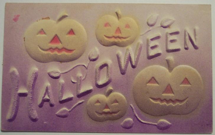 Postal Halloween retro 159