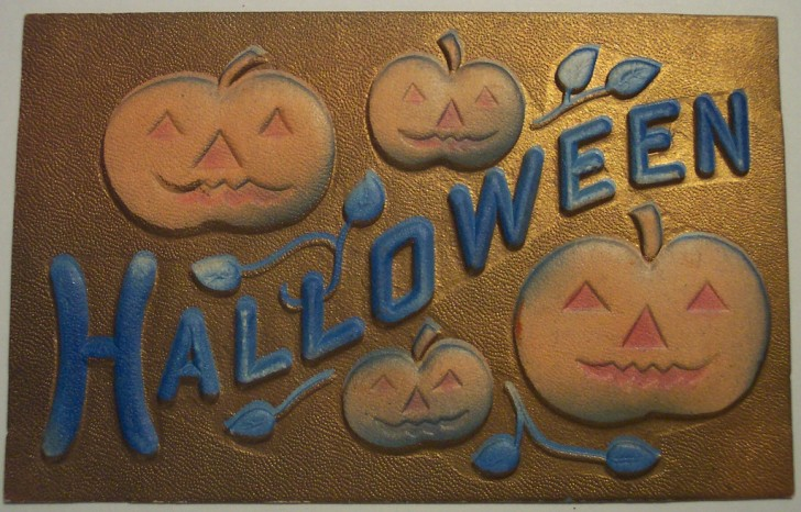 Postal Halloween retro 160