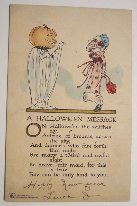 Postal Halloween retro 162