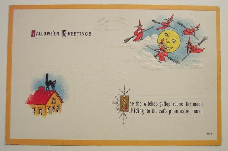 Postal Halloween retro 163
