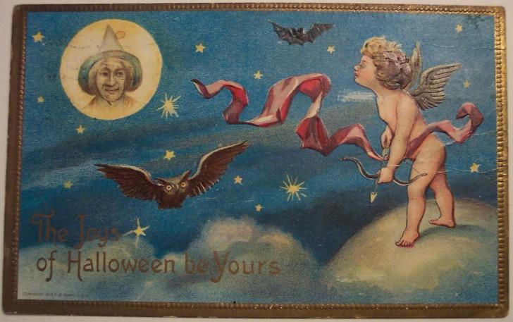 Postal Halloween retro 164