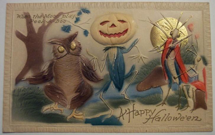 Postal Halloween retro 165