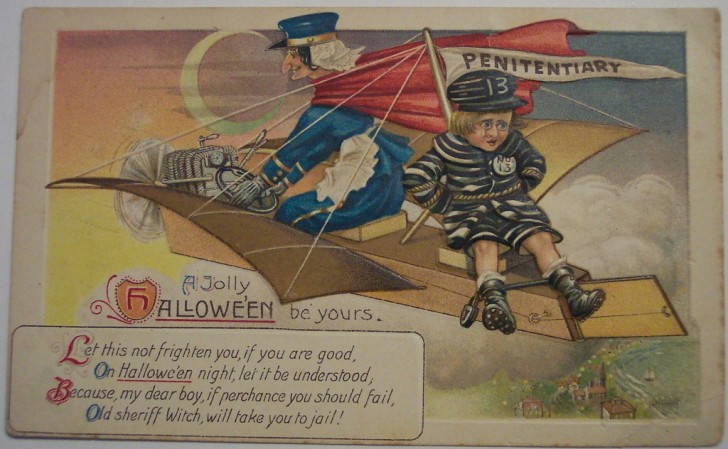 Postal Halloween retro 166