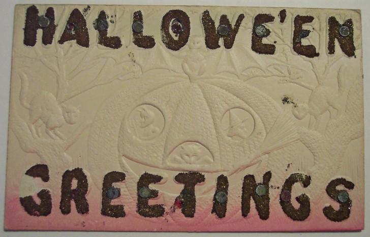 Postal Halloween retro 168