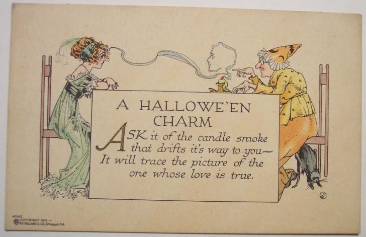Postal Halloween retro 170