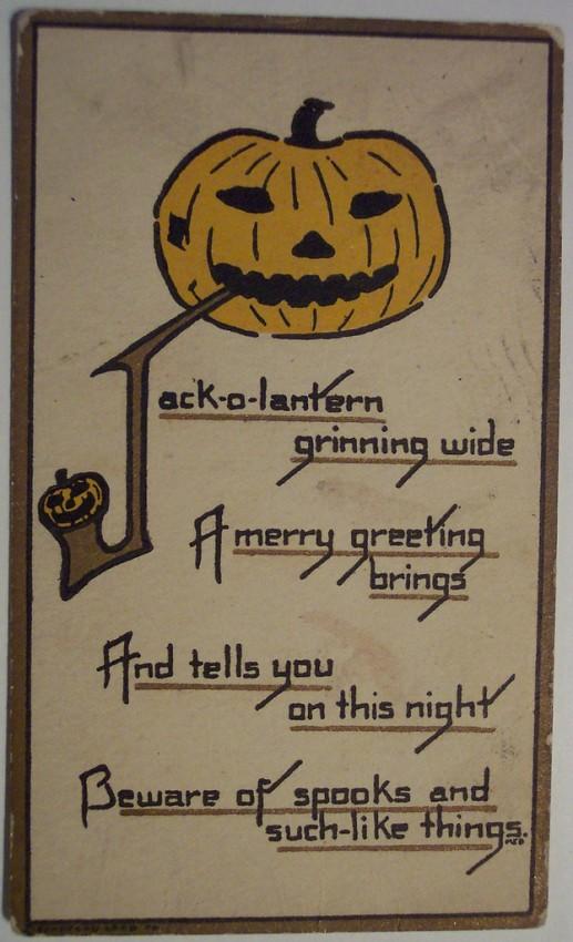 Postal Halloween retro 178