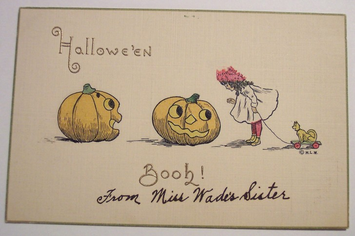 Postal Halloween retro 181