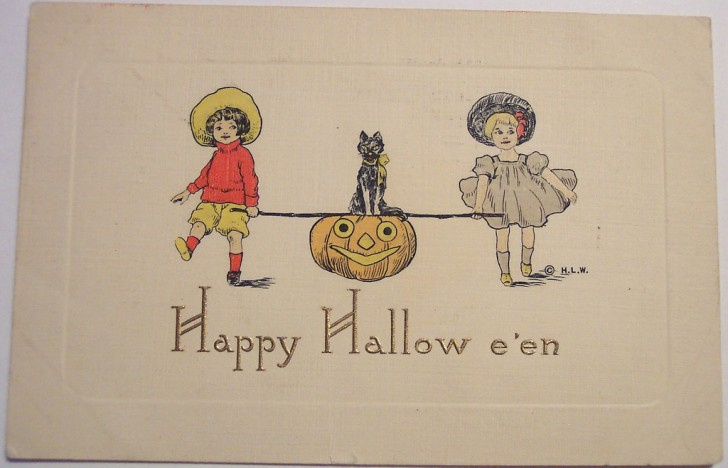 Postal Halloween retro 182