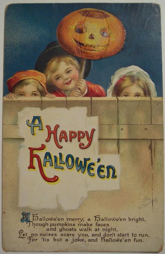 Postal Halloween vintage 001