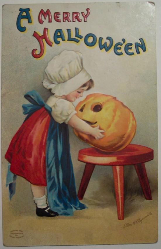 Postal Halloween vintage 002