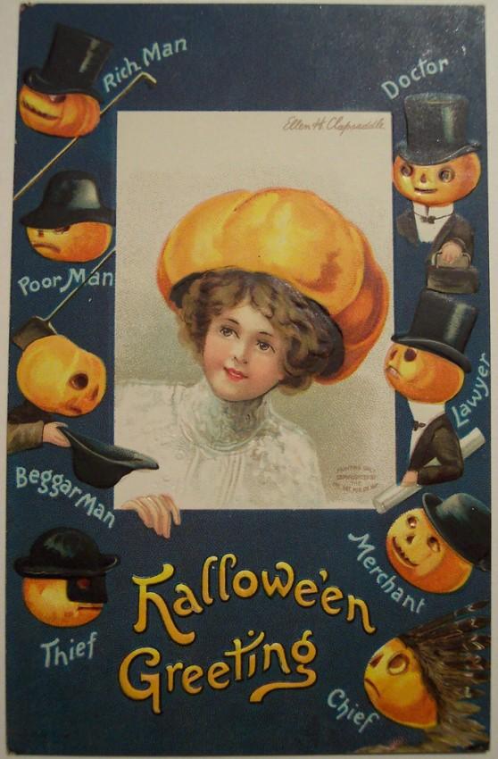 Postal Halloween vintage 003