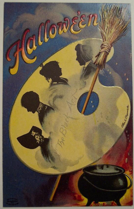 Postal Halloween vintage 006